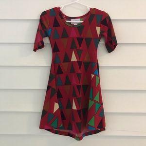 Lularoe Scarlett size 2 red girls dress